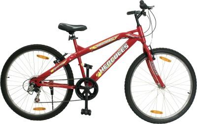 HERCULES Crusher RF 6s 26 T Mountain Cycle 6 Gear, Red  HERCULES Cycles