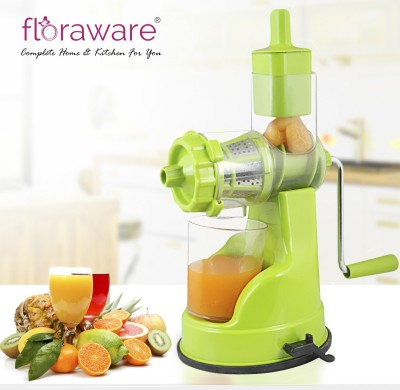 Nice Plastic Hand Juicer Fruite and Vegetable Juicer With Steel Handle(Green Pack of 1)