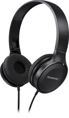 Panasonic RP-HF100E-K Wired Headphone(Black, On the Ear)
