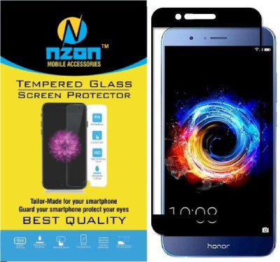 nzon Tempered Glass Guard for Honor 8 Pro Tempered Glass [Pack of 2], For Huawei Honor 8 Pro Screen Glass Protector, nzon™ [5D Honor V9 Tempered glass] Anti-Scratch, Ultra-Clear Curved Tempered Glass For Honor 8 Pro - Black(Pack of 2)