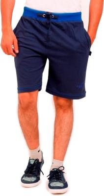 Vego Solid Men's Blue Regular Shorts