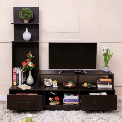 Home Full Engineered Wood TV Entertainment Unit(Finish Color - Wenge)