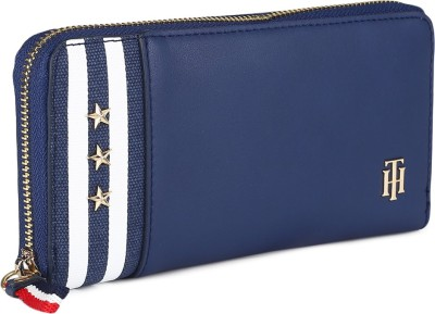 Tommy Hilfiger Women Blue Artificial Leather Wallet(12 Card Slots)