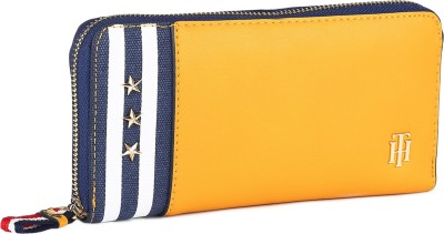 Tommy Hilfiger Women Yellow Artificial Leather Wallet(12 Card Slots)