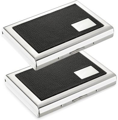 Flipkart SmartBuy High Quality | pack of 2| Leather Piece Black ID/Debit/Credit 6 Card Holder(Set of 2, Multicolor)