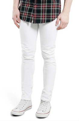 Ansh Fashion Wear Slim Men White Jeans