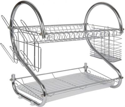 Omic Stainless Steel Plate Rack & Dish Holder for 8 Dish (Silver) Stainless Steel Kitchen Rack(Silver)