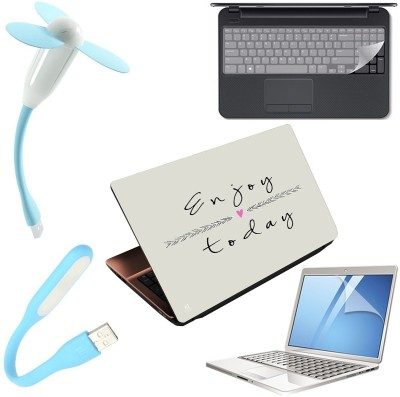 Finest 5 in 1 Laptop Skin Combo Pack with Screen Guard, Key...