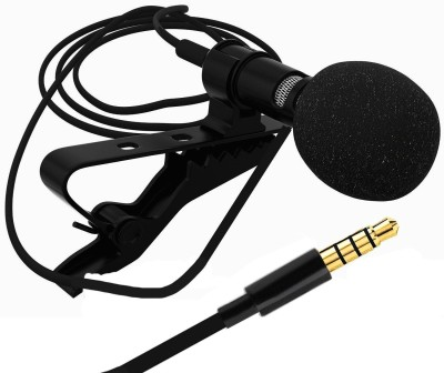 LS Letsshop 3.5mm Clip Microphone For Youtube | Collar Mike for Voice Recording | Lapel Mic Mobile, PC, Laptop, Android Smartphones, DSLR Camera Microphone Microphone(Black)