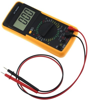 Inditradition DT9205A Digital Multimeter Capacitance Multi Meter With Probes Digital Multimeter(Yellow 2000 Counts)