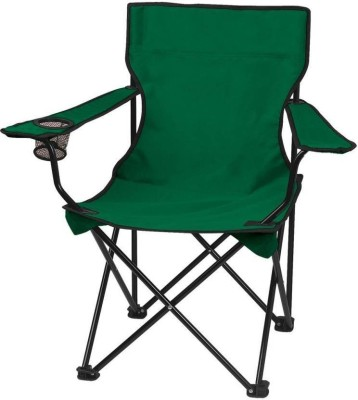 Inditradition Folding Camping & Fishing Chair | Lawn & Garden Chair | Perfect for Adult (Green) Metal Outdoor Chair(Finish Color - Green)