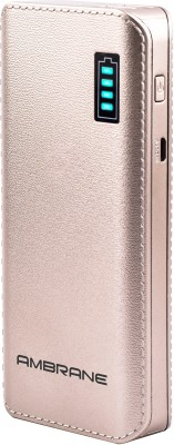 Ambrane 12500 mAh Power Bank (P-1133)(Gold, Lithium-ion) at flipkart
