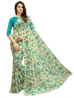 Ap Enterprise Floral Print Bollywood Georgette Saree(Multicolor)