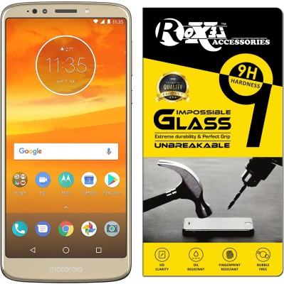 Roxel Impossible Screen Guard for Moto E5 Plus (Fine Gold, 5000mAh Battery)(Pack of 1)
