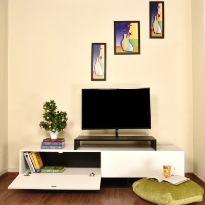 Home Full Engineered Wood TV Entertainment Unit(Finish Color - FROSTY WHITE)
