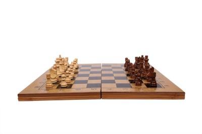 Assemble Folding 3 in 1 Wooden Chess/Checkers/Backgammon Board game- Multi-color 15.5 inch Chess Board(Multicolor)