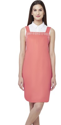 AND Women A-line Pink Dress