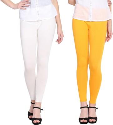 Livener Ankle Length  Legging(White, Yellow, Applique)