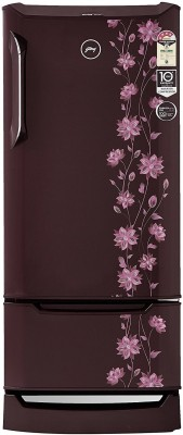 Godrej 225 L Direct Cool Single Door 4 Star Refrigerator(Erica Wine, R D Edgeduo 225PDINV 4.2 Er Wn)