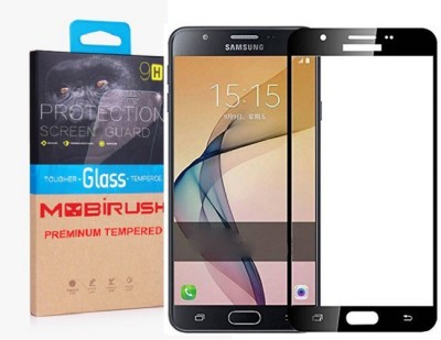 MOBIRUSH Edge To Edge Tempered Glass for Samsung J710, Samsung Galaxy J7 - 6 (New 2016 Edition)(Pack of 1)
