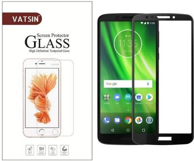 Vatsin Edge To Edge Tempered Glass for Motorola Moto G6 Play(Pack of 1)