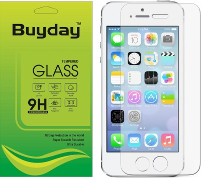 Buyday Tempered Glass Guard for Apple iPhone SE, Apple iPhone 5C, Apple iPhone 5s, apple iPhone 5 (4 inch)(Pack of 1)