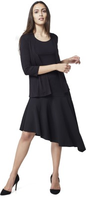 AND Solid Women Flared Black Skirt at flipkart