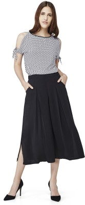 AND Regular Fit Women Black Trousers at flipkart