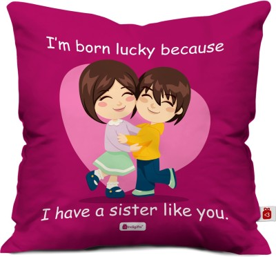 Indigifts Printed Cushions Cover(40 cm*40 cm, Pink)