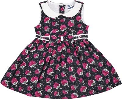 099e149341f0 57% OFF on 612 League Girls Midi/Knee Length Casual Dress(Blue, Sleeveless)  on Flipkart | PaisaWapas.com
