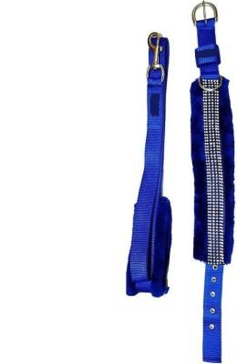 PET HUB Dog Collar & Leash(, BLUE