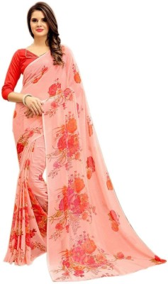 Ap Enterprise Printed Bollywood Georgette Saree(Multicolor)
