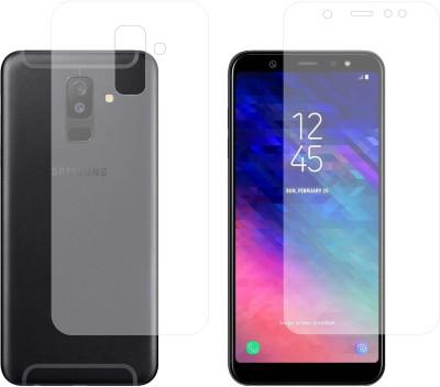 """Case Creation Front and Back Screen Guard for Samsung Galaxy A6 Plus 6.0\""""inch 2018(Pack of 2)"""