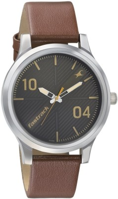 Fastrack NM38051SL02 Fundamentals Analog Watch   For Men Fastrack Wrist Watches