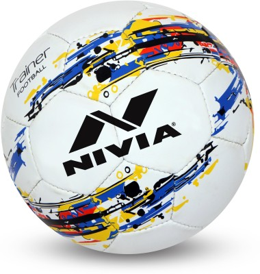 Nivia Trainer Football   Size: 5 Pack of 1, White Nivia Footballs