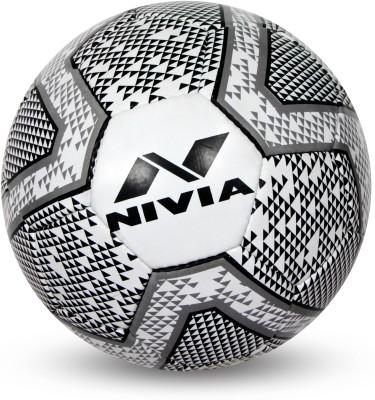 Nivia Black   White Football   Size: 5