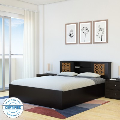 Perfect Homes by Flipkart Rhapsody Engineered Wood Queen Box Bed(Finish Color -  Wenge)