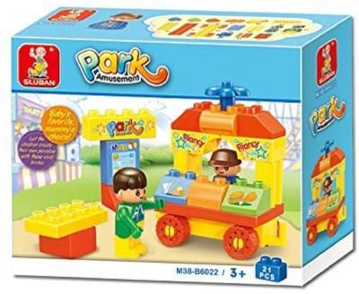 Sluban Amusement Park Building Block Toys | LEGO Compatible | Educational Gift Toys For Kids | M38 B6022  21 Pcs  Multicolor Sluban Blocks   Building