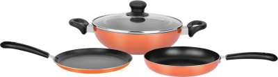Renberg Orchid Induction Bottom Cookware Set  (Aluminium, 3 - Piece)