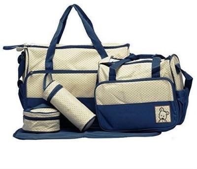 Creative India Exports Baby Diaper Nappy Changing Baby Diaper Bag/Baby Bag/Mummy Bag/Handbag (5 pcs. Set Navy Blue) Messenger Diaper Bag, Sling Diaper Bag(Navy Blue)