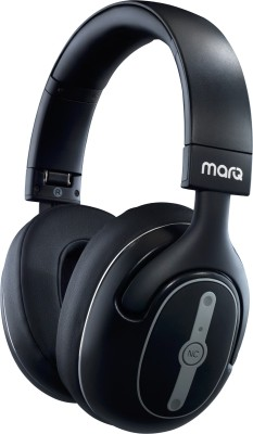 MarQ by Flipkart Active Noise Cancelling Bluetooth Headset(Black, Wireless over the head)