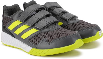 ADIDAS Boys   Girls Velcro Running Shoes Grey ADIDAS Sports Shoes
