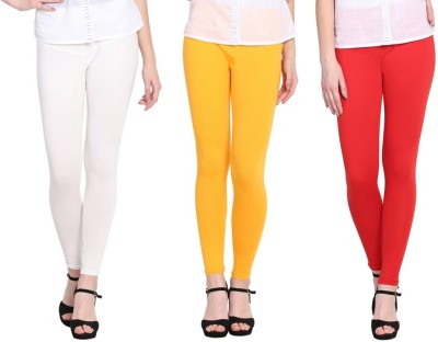 MFI Ankle Length  Legging(Red, White, Yellow, Solid)