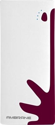 Ambrane 10000 mAh Power Bank (P-1122, NA)(White, Brown, Lithium-ion)