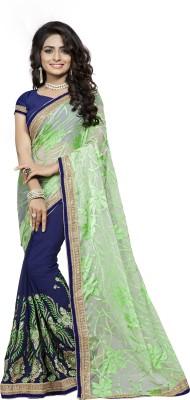 FabTag - Aashvi Creation Embroidered Fashion Georgette, Brasso Saree(Multicolor) Flipkart