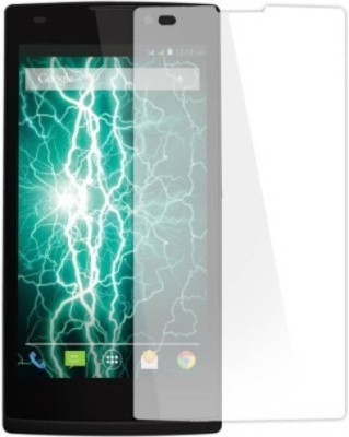 RM WORLD Tempered Glass Guard for Lava Iris Fuel 60(Pack of 1)