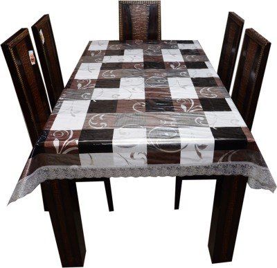 decor club Floral 6 Seater Table Cover(Multicolor, PVC) at flipkart