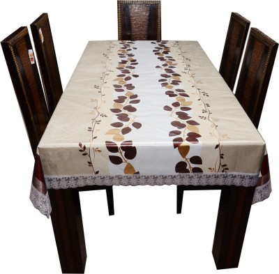 the trendy Floral 6 Seater Table Cover(Multicolor, PVC) at flipkart
