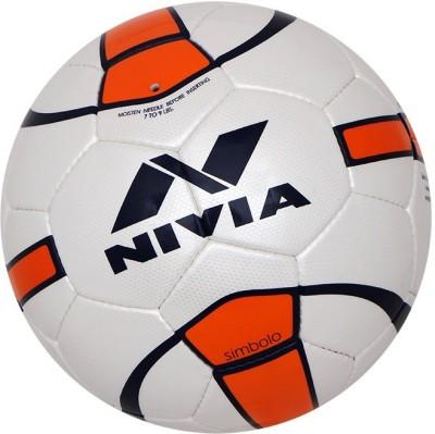 NIVIA Simbolo Football   Size: 5 Pack of 1, White NIVIA Footballs