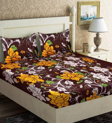 d96f41b6367fca 75% OFF on Panipat Textile Hub 144 TC Microfiber Double 3D Printed Bedsheet (Pack